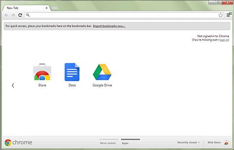 ภาพรวมของ google chrome