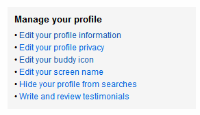 flickr manage your profile