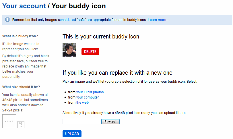 your buddy icon in flickr
