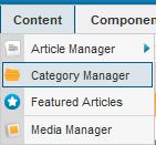 เมนูสำหรับจัดการ category ใน Joomla2.5