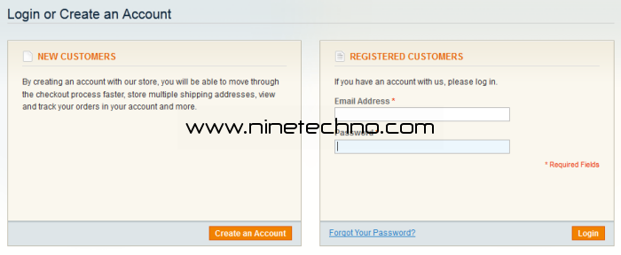 create account magento