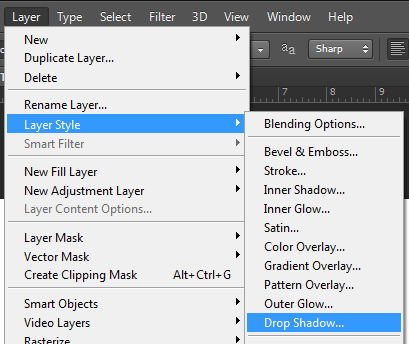 สร้าง layer style adobe photoshop cs6
