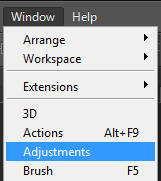 photoshop menu adjustment