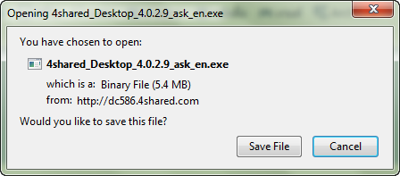 file for setup 4shared desktop
