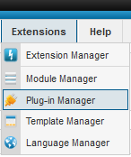 joomla plug-in manager