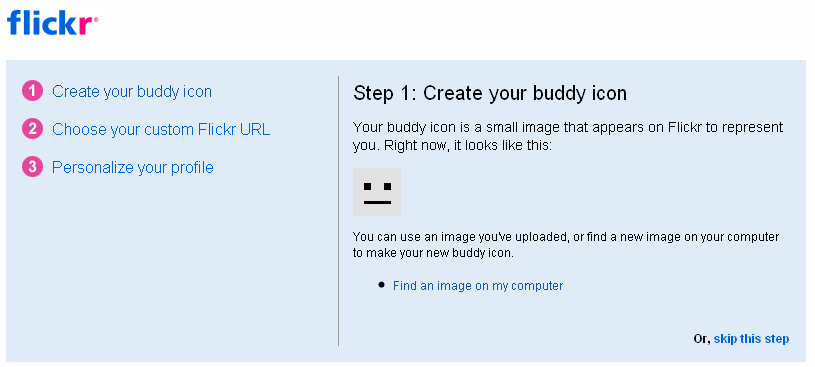 create your buddy icon in flickr